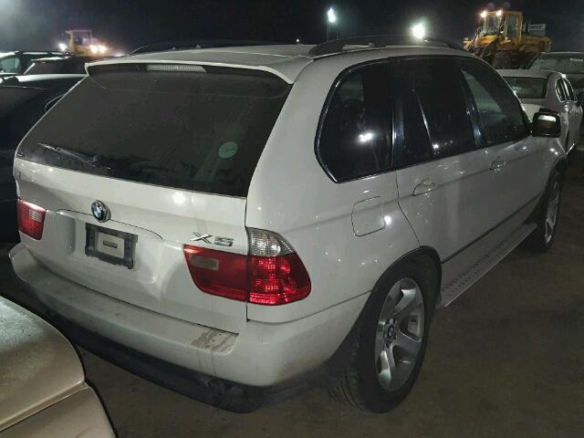 5UXFB53554LV07603 - 2004 BMW X5 4.4I, WHITE - price history, history ...