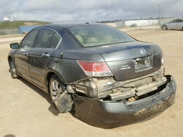 1HGCP368X8A031416 - 2008 HONDA ACCORD EXL GRAY photo 3
