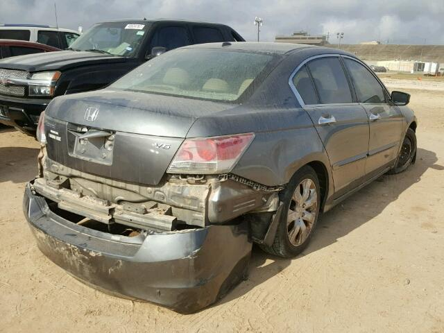 1HGCP368X8A031416 - 2008 HONDA ACCORD EXL GRAY photo 4