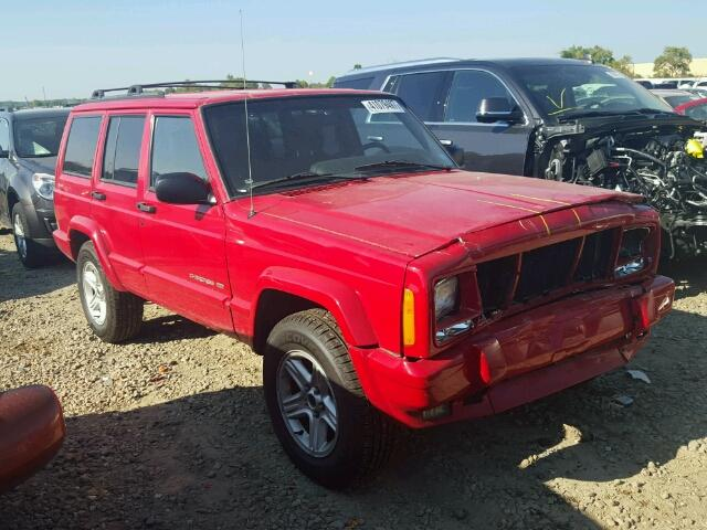 1J4FF58S91L532109 - 2001 JEEP CHEROKEE C RED photo 1