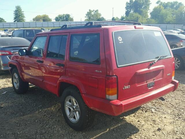 1J4FF58S91L532109 - 2001 JEEP CHEROKEE C RED photo 3