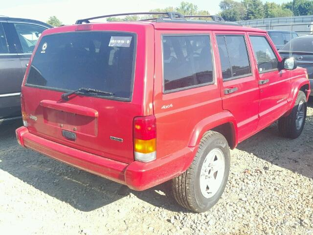 1J4FF58S91L532109 - 2001 JEEP CHEROKEE C RED photo 4