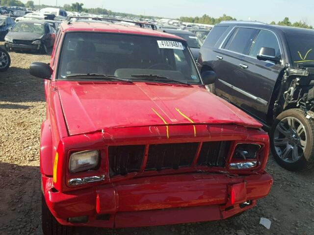 1J4FF58S91L532109 - 2001 JEEP CHEROKEE C RED photo 7
