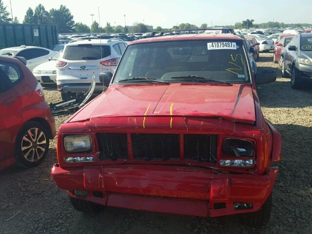 1J4FF58S91L532109 - 2001 JEEP CHEROKEE C RED photo 9