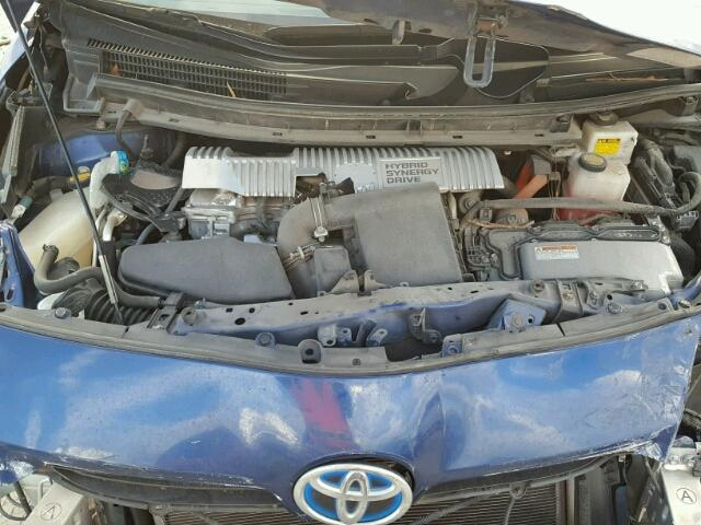 JTDKN3DU2B1399404 - 2011 TOYOTA PRIUS BLUE photo 7