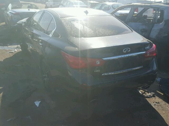 JN1AV7AR6EM700734 - 2014 INFINITI Q50 HYBRID BLACK photo 3