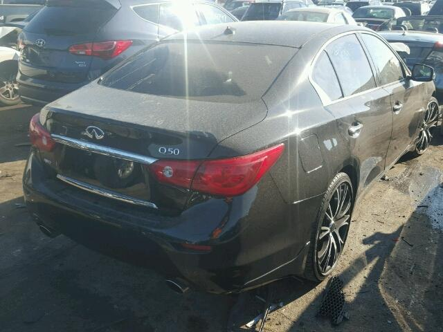 JN1AV7AR6EM700734 - 2014 INFINITI Q50 HYBRID BLACK photo 4