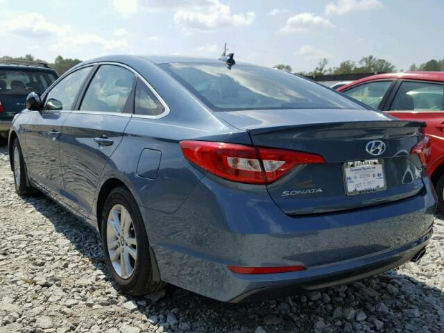 5NPE24AFXHH526404 - 2017 HYUNDAI SONATA SE BLUE photo 3