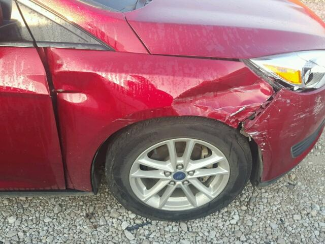 1FADP3F28GL257493 - 2016 FORD FOCUS SE RED photo 9