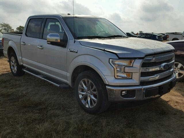 1FTEW1CF9GKF03194 - 2016 FORD F150 SUPER SILVER photo 1