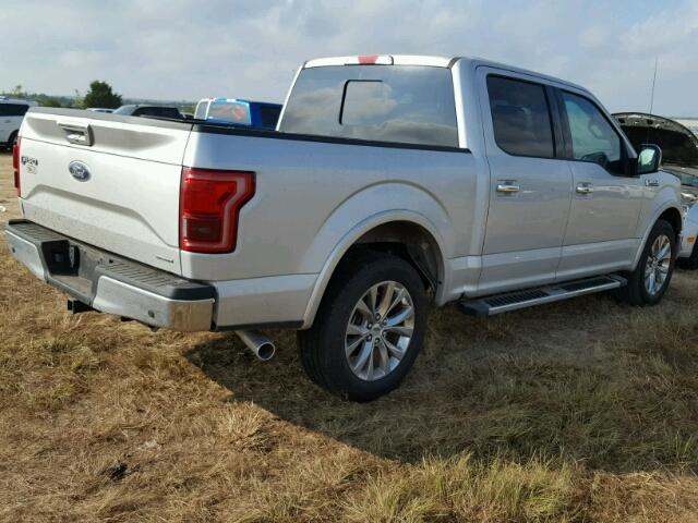 1FTEW1CF9GKF03194 - 2016 FORD F150 SUPER SILVER photo 4