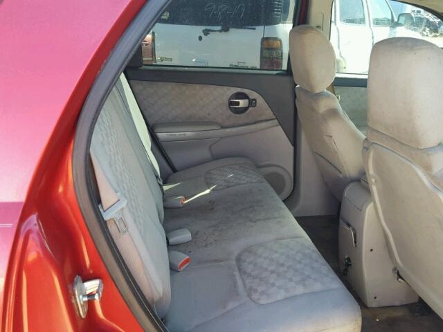 2CNDL63F866080168 - 2006 CHEVROLET EQUINOX LT RED photo 6