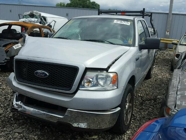 1FTPX125X5NB78033 - 2005 FORD F150 SILVER photo 2