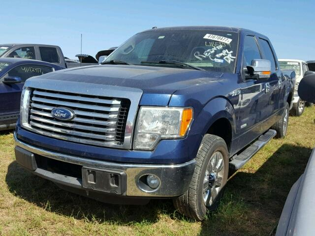 1FTFW1CT6BFB76782 - 2011 FORD F150 SUPER BLUE photo 2
