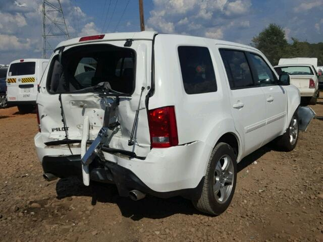 5FNYF3H56DB044319   2013 HONDA PILOT EXL WHITE Photo 4