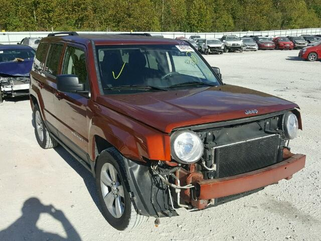 1C4NJPAB3CD595807 - 2012 JEEP PATRIOT ORANGE photo 1
