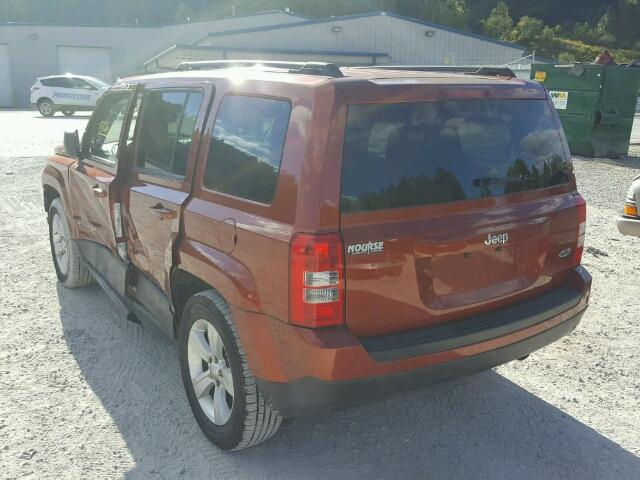1C4NJPAB3CD595807 - 2012 JEEP PATRIOT ORANGE photo 3