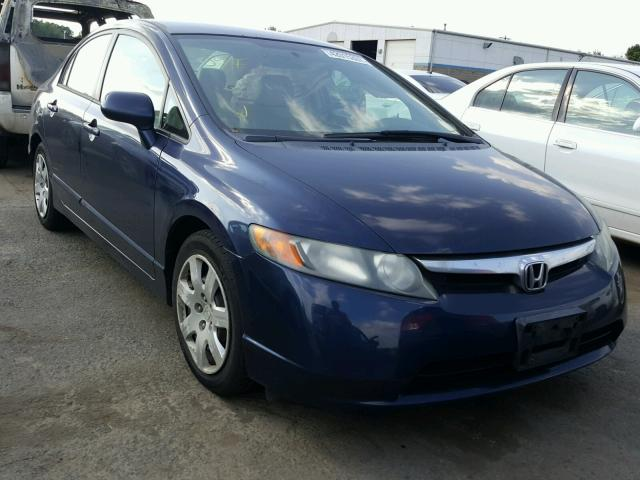 1HGFA16596L056804 - 2006 HONDA CIVIC LX BLUE photo 1