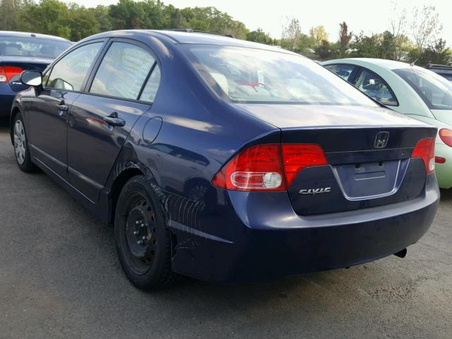 1HGFA16596L056804 - 2006 HONDA CIVIC LX BLUE photo 3
