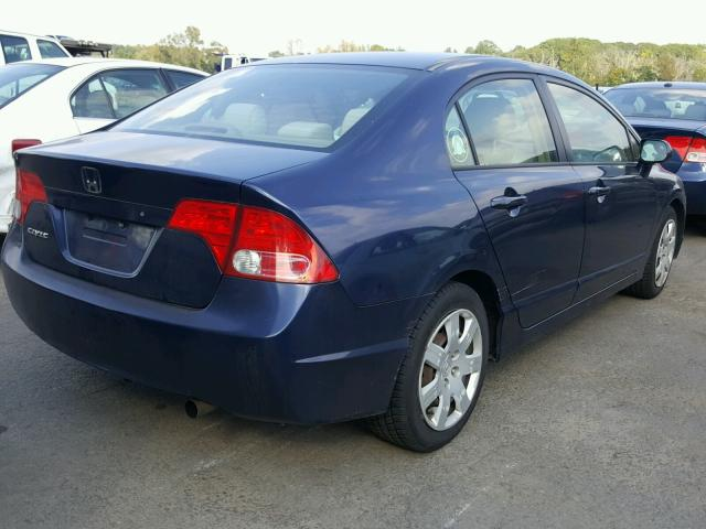 1HGFA16596L056804 - 2006 HONDA CIVIC LX BLUE photo 4