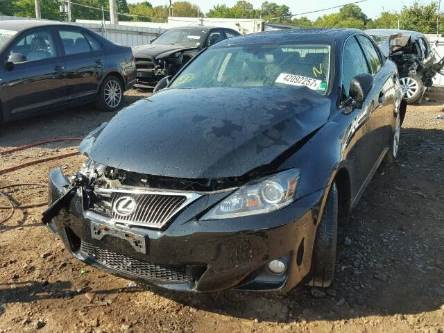 JTHCF5C27C5056206 - 2012 LEXUS IS BLACK photo 2