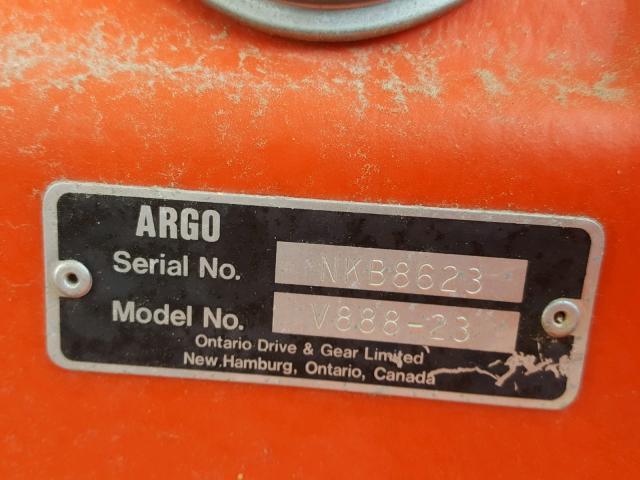 NKB8623 - 1987 ARGO V888 BLACK photo 10