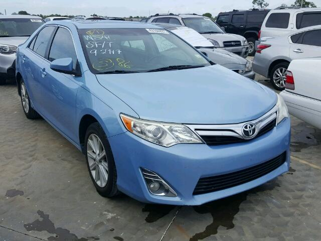 4T1BF1FK0CU605537 - 2012 TOYOTA CAMRY BASE BLUE photo 1