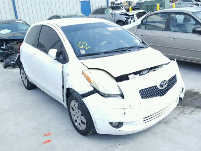 JTDJT923785154369 - 2008 TOYOTA YARIS WHITE photo 1