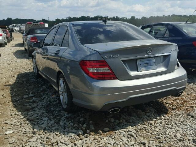 WDDGF8AB1ER311781 - 2014 MERCEDES-BENZ C 300 4MAT SILVER photo 3