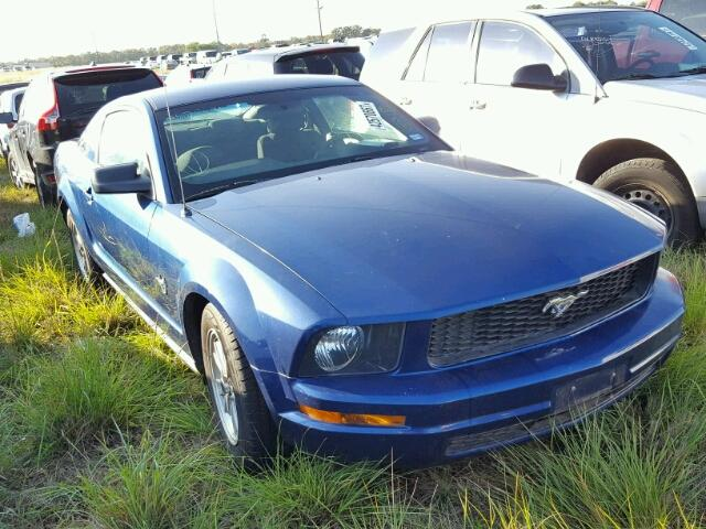 1ZVHT80N595103593 - 2009 FORD MUSTANG BLUE photo 1