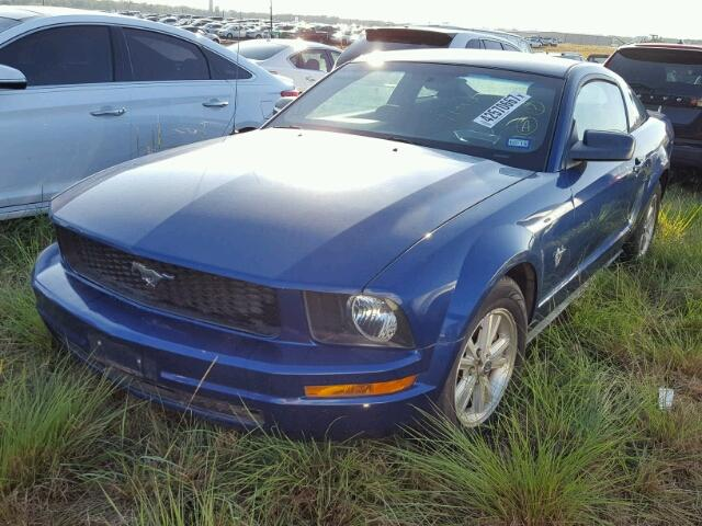 1ZVHT80N595103593 - 2009 FORD MUSTANG BLUE photo 2