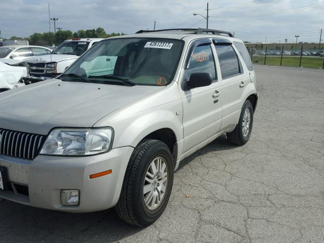4M2YU91157KJ13597 - 2007 MERCURY MARINER CREAM photo 2