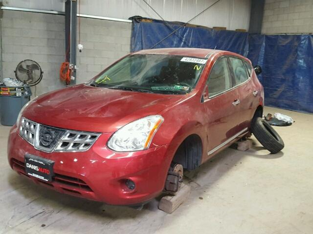 JN8AS5MV9BW312551 - 2011 NISSAN ROGUE RED photo 2