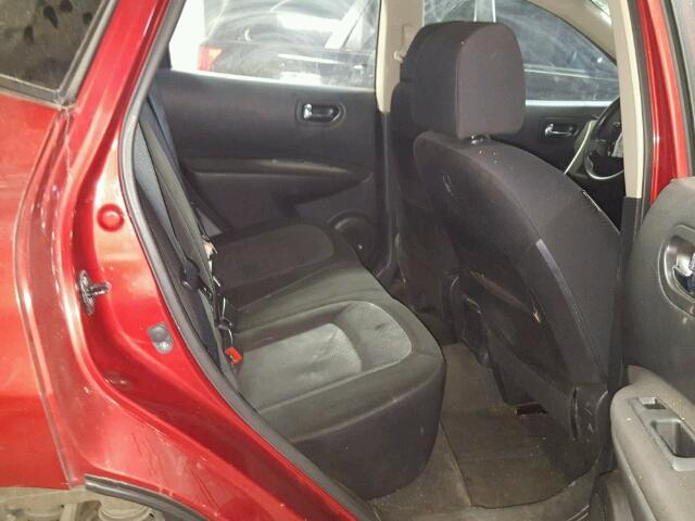 JN8AS5MV9BW312551 - 2011 NISSAN ROGUE RED photo 6