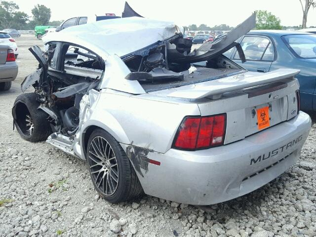 1FAFP40664F161009 - 2004 FORD MUSTANG SILVER photo 3