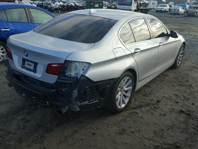 WBA5B1C59ED476595 - 2014 BMW 535 SILVER photo 4