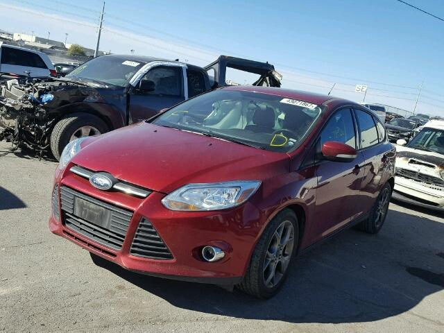 1FADP3K21DL255876 - 2013 FORD FOCUS SE RED photo 2