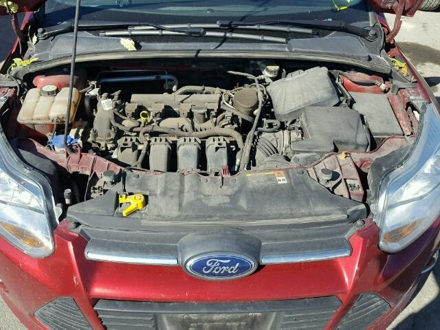 1FADP3K21DL255876 - 2013 FORD FOCUS SE RED photo 7
