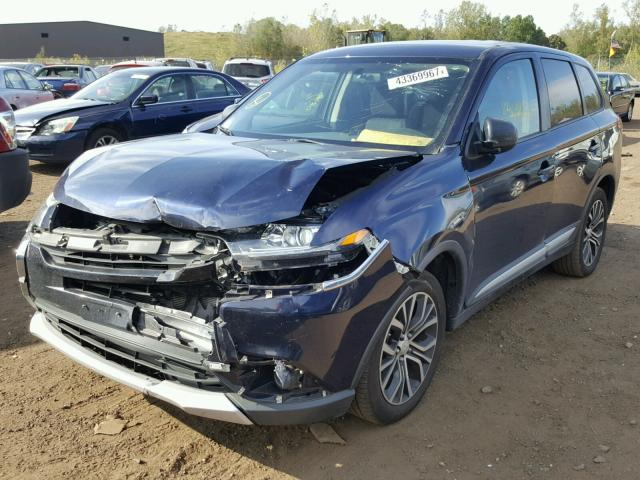 JA4AZ2A37HZ001629 - 2017 MITSUBISHI OUTLANDER BLUE photo 2