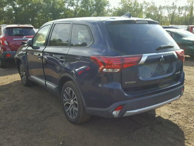 JA4AZ2A37HZ001629 - 2017 MITSUBISHI OUTLANDER BLUE photo 3