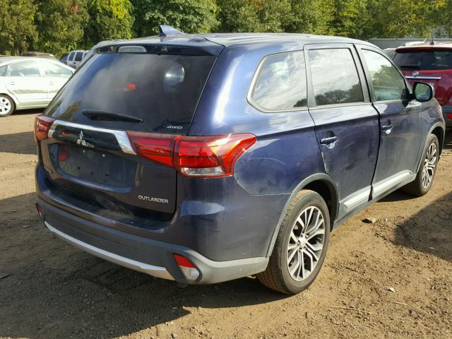 JA4AZ2A37HZ001629 - 2017 MITSUBISHI OUTLANDER BLUE photo 4