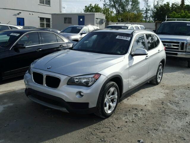 WBAVM1C5XEVW55801 - 2014 BMW X1 SILVER photo 2