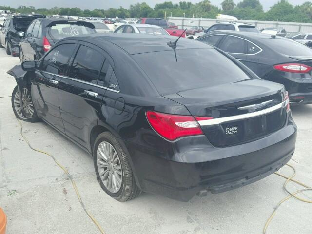1C3CCBCBXCN305692 - 2012 CHRYSLER 200 LIMITE BLACK photo 3