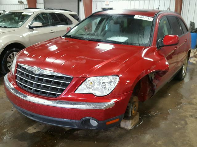 2A8GF68XX7R127879 - 2007 CHRYSLER PACIFICA T RED photo 2