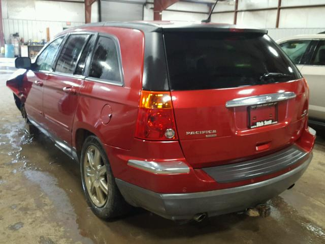 2A8GF68XX7R127879 - 2007 CHRYSLER PACIFICA T RED photo 3