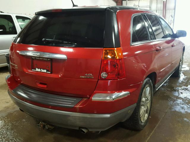 2A8GF68XX7R127879 - 2007 CHRYSLER PACIFICA T RED photo 4