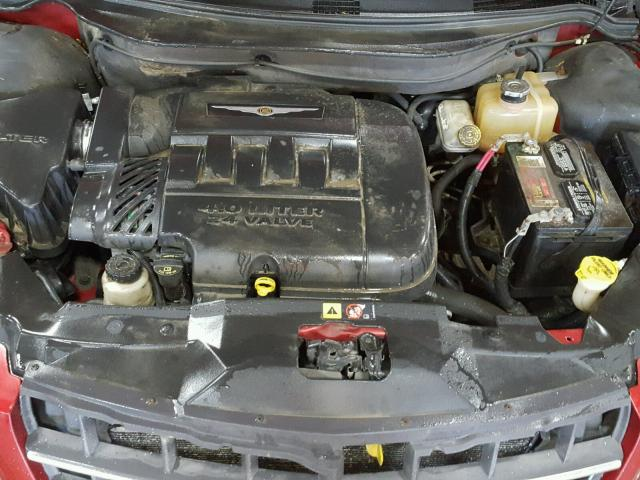 2A8GF68XX7R127879 - 2007 CHRYSLER PACIFICA T RED photo 7