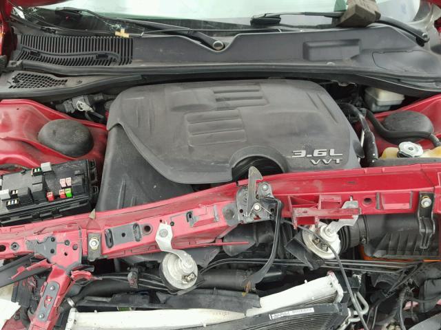 2C3CDYAG7CH104226 - 2012 DODGE CHALLENGER RED photo 1
