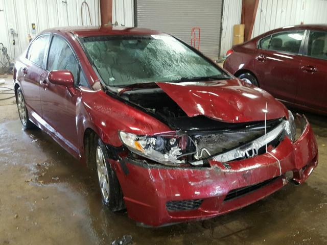 19XFA1F50AE000900 - 2010 HONDA CIVIC LX RED photo 1