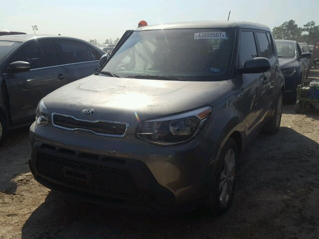 KNDJP3A58F7181750 - 2015 KIA SOUL + GRAY photo 2